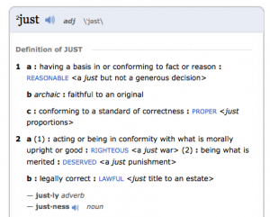 Just Definition - Adjective
